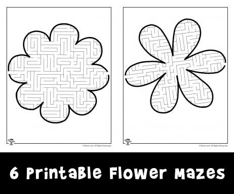 6 Printable Flower Mazes Woo Jr Kids Activities