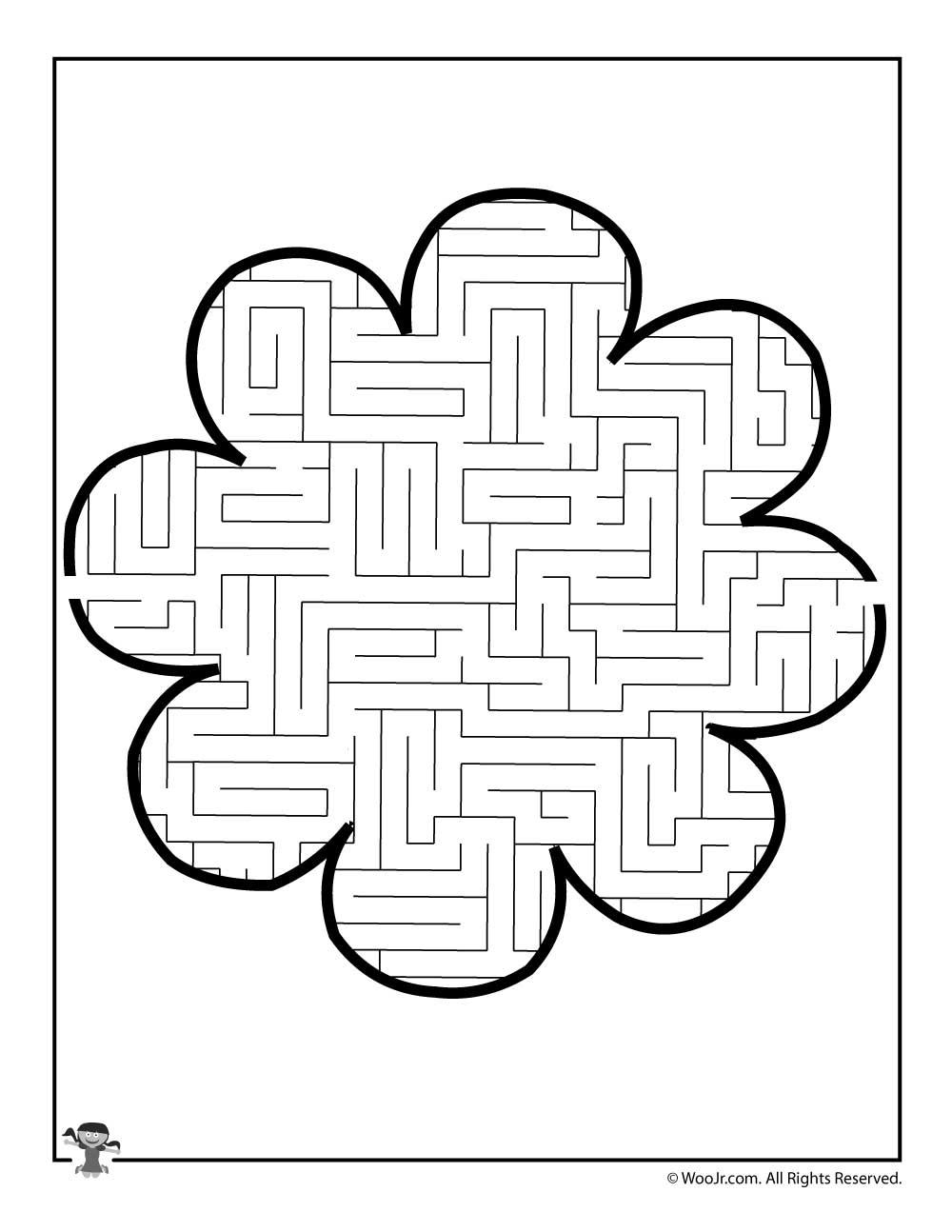 8 Petal Flower Maze Woo Jr Kids Activities