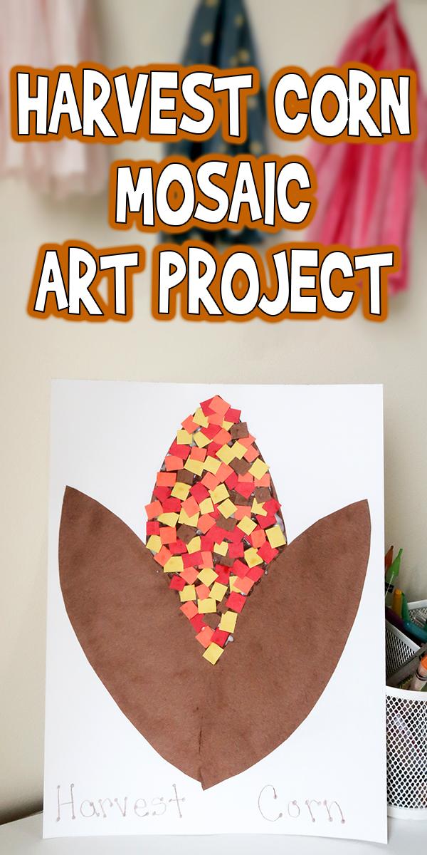 Harvest Corn Mosaic Art Project Woo Jr Kids Activities