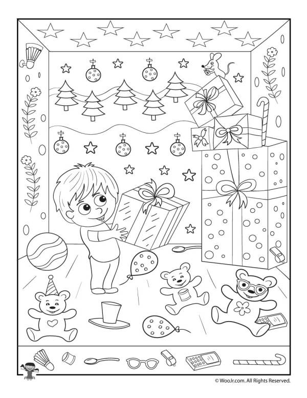 Christmas Gifts Hidden Picture Printable Activity | Woo ...