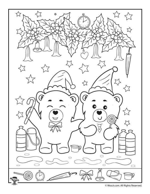 Bear-y Fun Christmas I Spy Page | Woo! Jr. Kids Activities