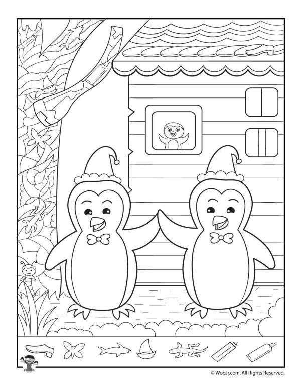 Winter Penguins Hidden Picture Printable | Woo! Jr. Kids ...