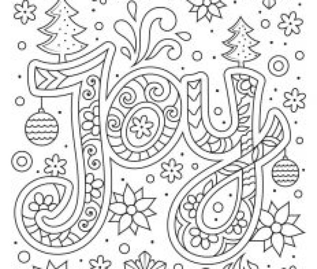 Beautiful Printable Christmas Adult Coloring Pages Woo Jr Kids
