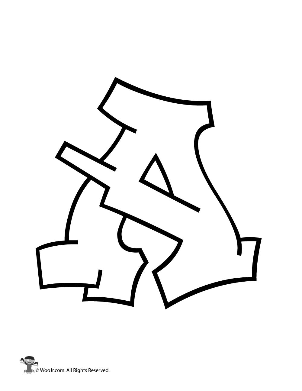 Graffiti Capital Letter A Woo Jr Kids Activities