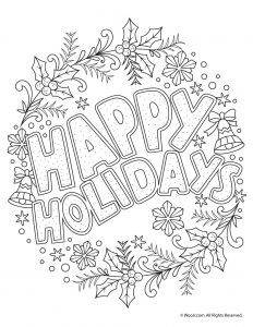 printable holiday coloring pages # 2