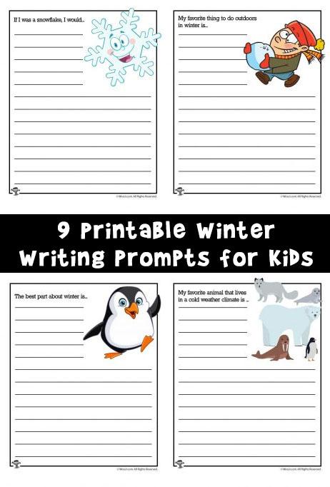 Winter Story Starters Woo Jr Kids Activities