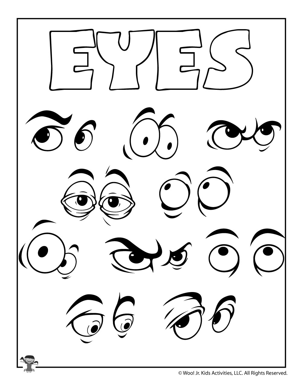E Is For Eyes Coloring Page Woo Jr Kids Activities
