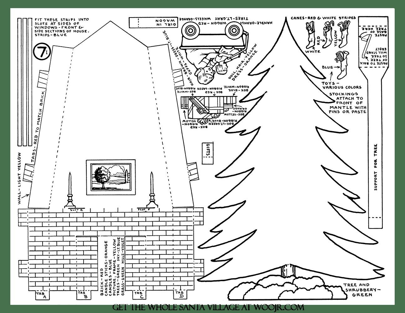 Christmas Stockings T Amp Tree Printable Craft