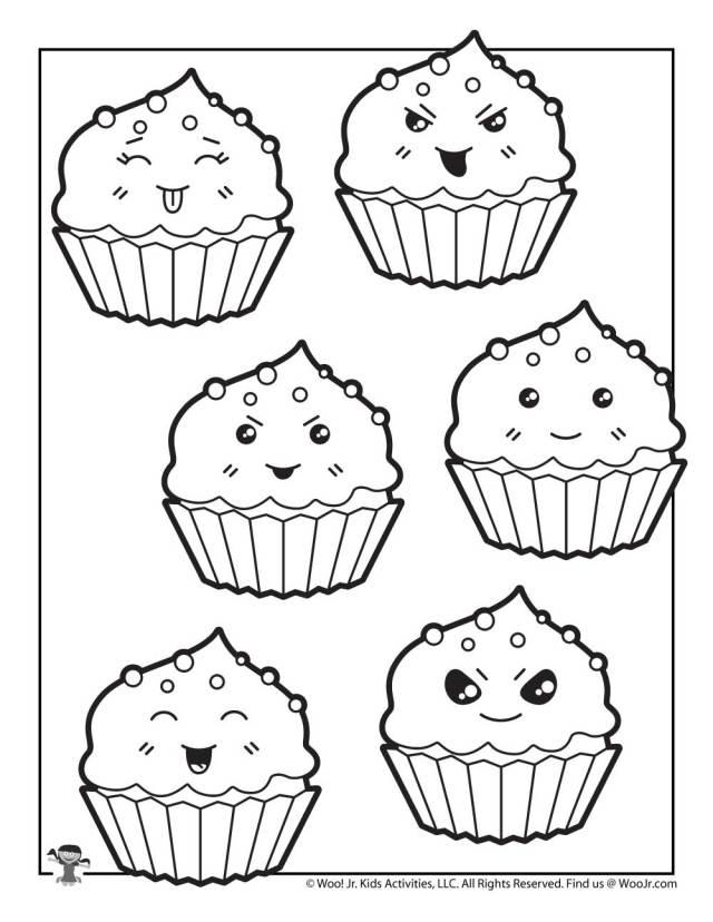 Cute Cupcake Coloring Sheet  Woo! Jr. Kids Activities