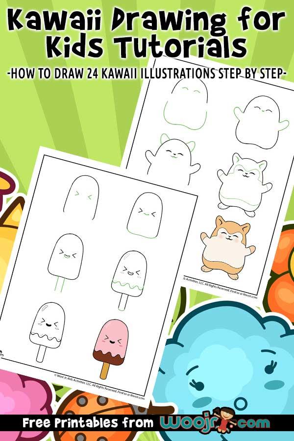 Kawaii Drawing For Kids Tutorials Woo Jr Kids Activities
