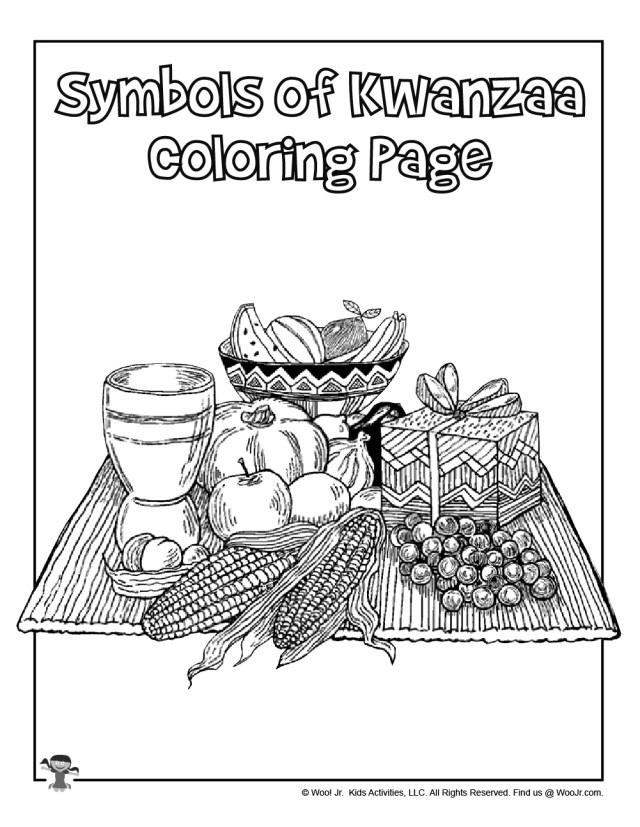 Symbols of Kwanzaa Coloring Page  Woo! Jr. Kids Activities