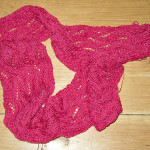 Butternut Scarf off the needles and ready to block