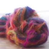 All shades, but with an acid yellow in it. Colinette mohair