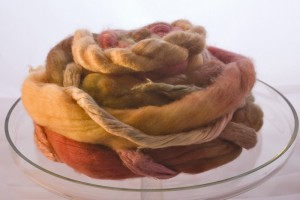 Wonderful Prairie roving in Merino and Silk