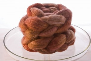 Even more delightful roving in Baby Camel and Silk