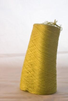 Yellowish-green laceweight silk