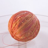 Orange and Yellow silk laceweight from Hipknits