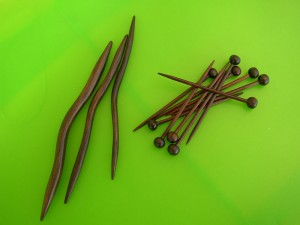 Rosewood Cable Needles and Seaming Pins