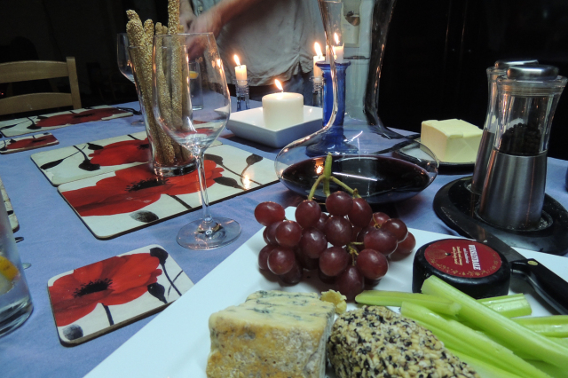 When preparing the table for a meal it is essential to first ensure that the cheeseboard is amply provisioned
