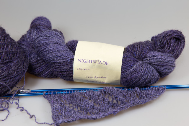 The new Curl, Argent in last year's handspun yarn