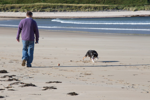 We were able to play with Nell on the beautiful sandy beach