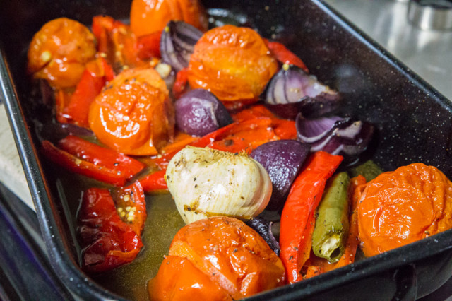The roasted veg
