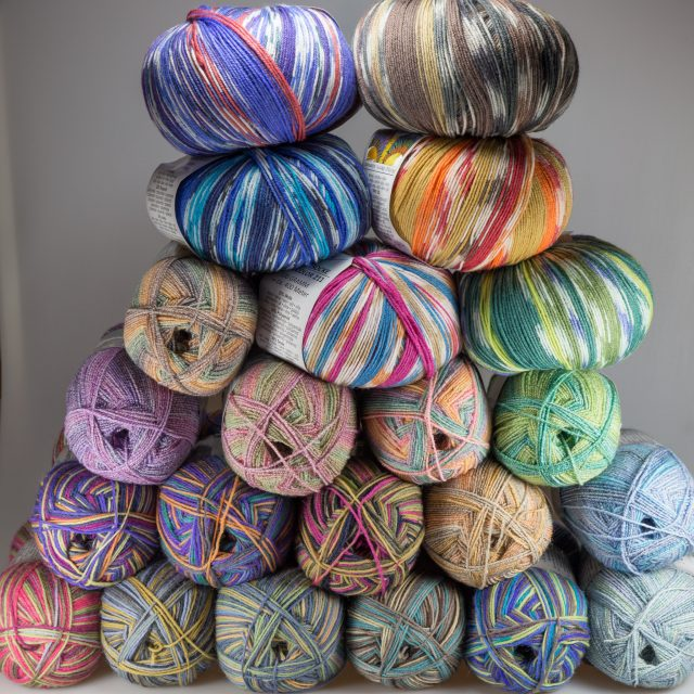 So, that is what a sock yarn mountain looks like