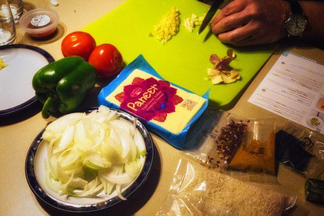 Mr L prepping dinner
