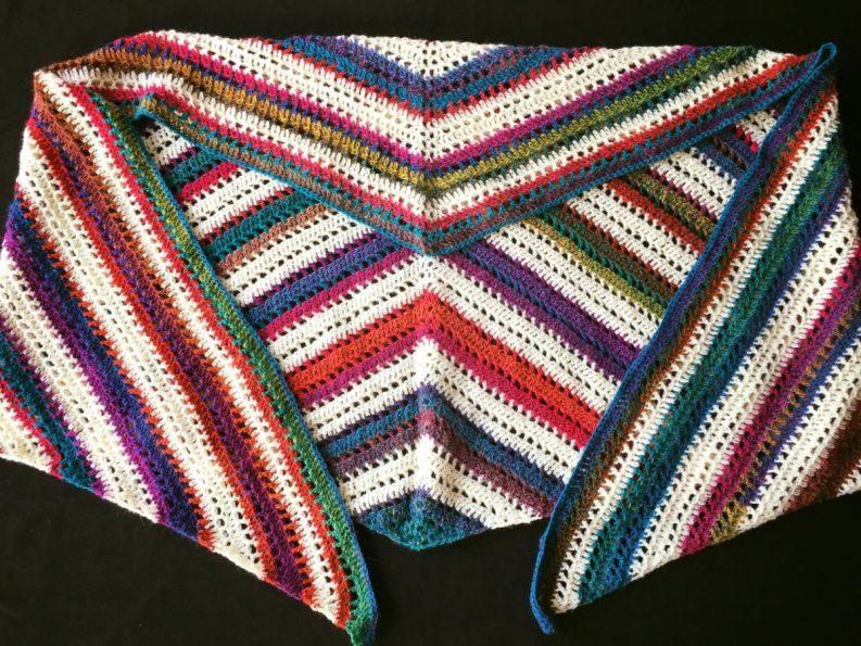 48) Shawl/scarf beautifully made in Sheepjes Invicta