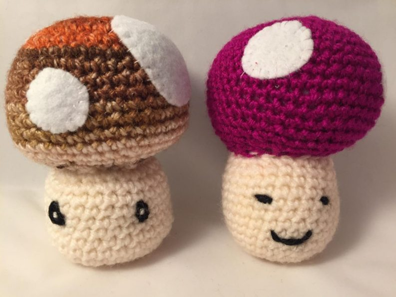 108) Pair of adorable toadstools!