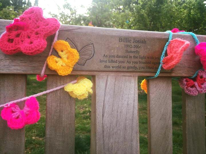 A very special yarn bomb for Billie, April 2017