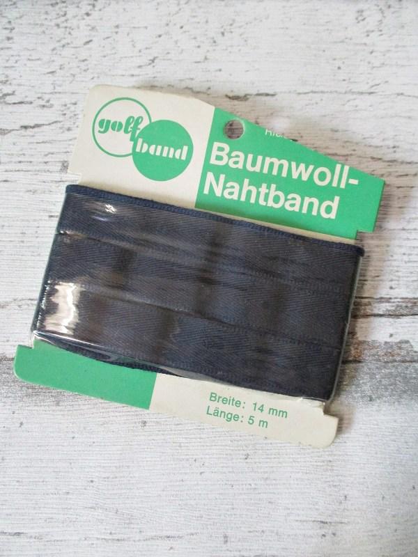 Nahtband golfband Baumwolle dunkelblau 14mm 5m - Woolnerd