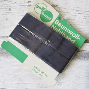 Nahtband golfband dunkelblau Baumwolle 20mm 4m - Woolnerd