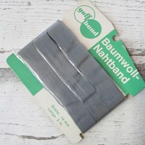 Nahtband golfband grau Baumwolle 14mm 5m - Woolnerd