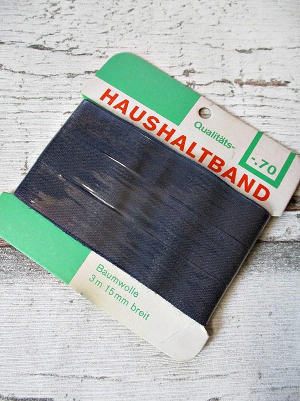 Haushaltsband Baumwolle dunkelblau 15mm - Woolnerd