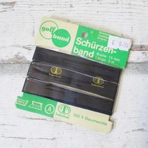 Haushaltsband Schürzenband golfband Indanthren Baumwolle dunkelblau 15mm - Woolnerd