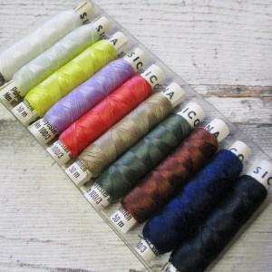Nähgarn Kombipackung 10Rollen Polyester SICONA - Woolnerd