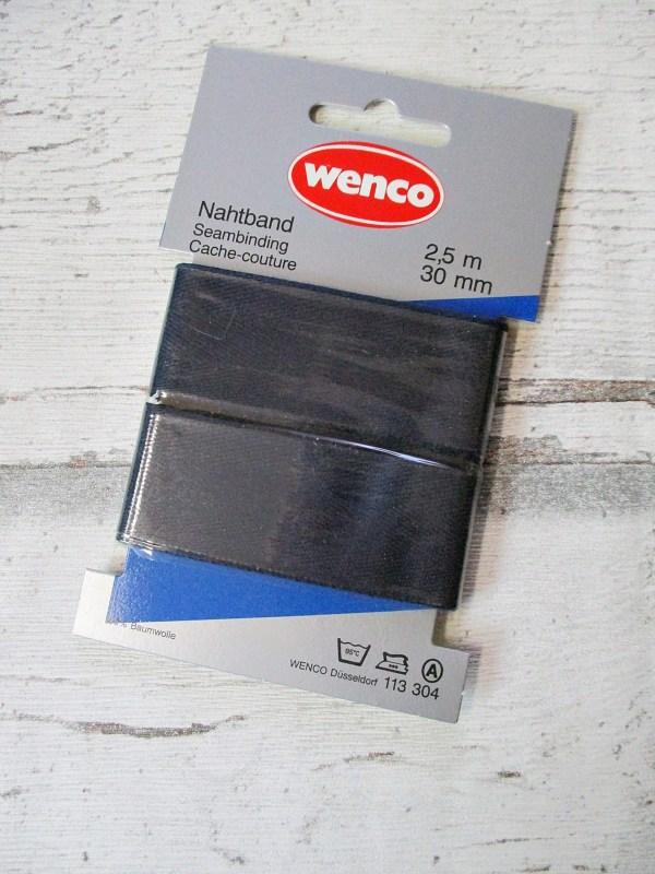 Nahtband Wenco-rot dunkelblau Baumwolle 30mm 250cm - Woolnerd