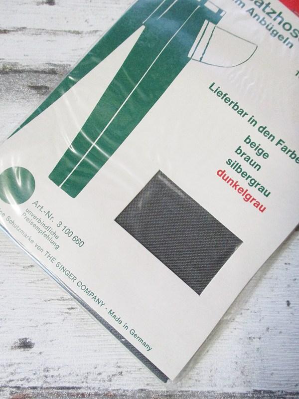 Ersatzhosentaschen dunkelgrau Viskose SINGER - Woolnerd