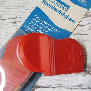 Kreiderädchen Ringelspitz Wenco rot Kreidepulver - Woolnerd