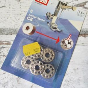 Nähmaschinenspulen Zentralspulen 5Stk. CB Prym Metall - Woolnerd