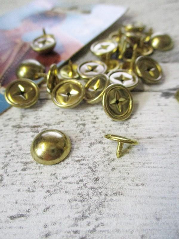 Ziernieten 20Stk gold rund Prym