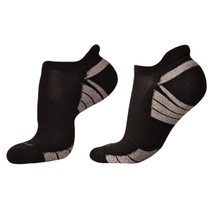 woolrior merino running socks black grey
