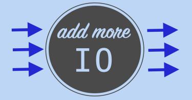 Add More IO Blue Graphic