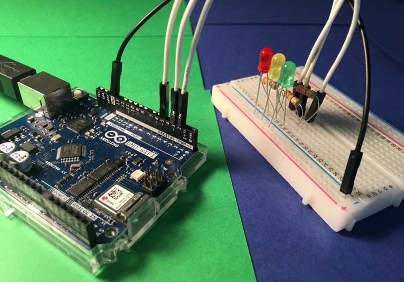 Arduino Uno WiFi Rev2 With LEDs