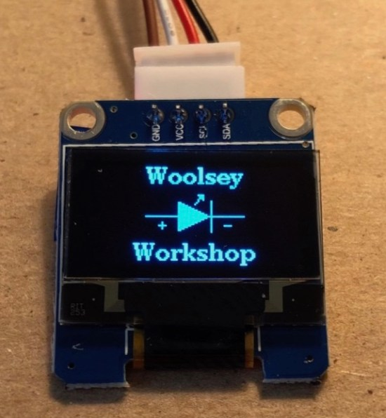 Interfacing An SSD1306 Display Module To An Arduino Uno - Woolsey