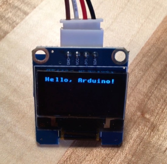Arduino Uno Display Text