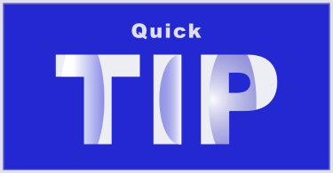 Quick Tip Graphic