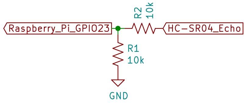 Raspberry Pi GPIO Voltage Divider Schematic