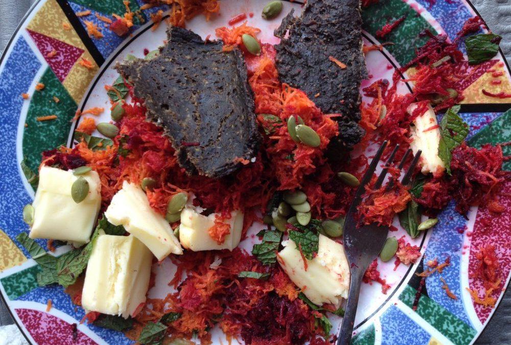 Paleo Trail Foods Recipe: Carrots Alive Breakfast Salad